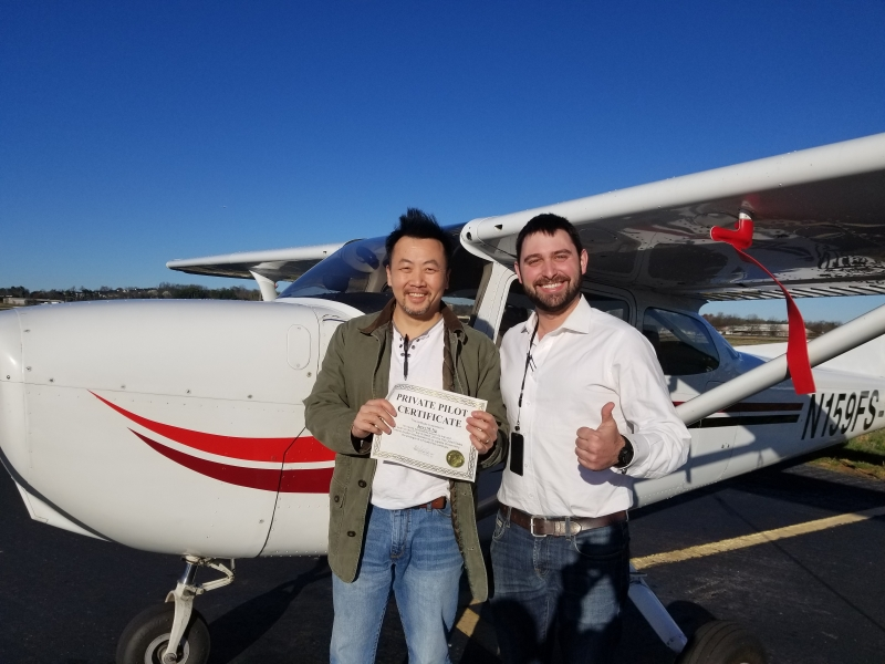Congratulations to Jerry Ng on obtaining his Private Pilot! 3/2/2018