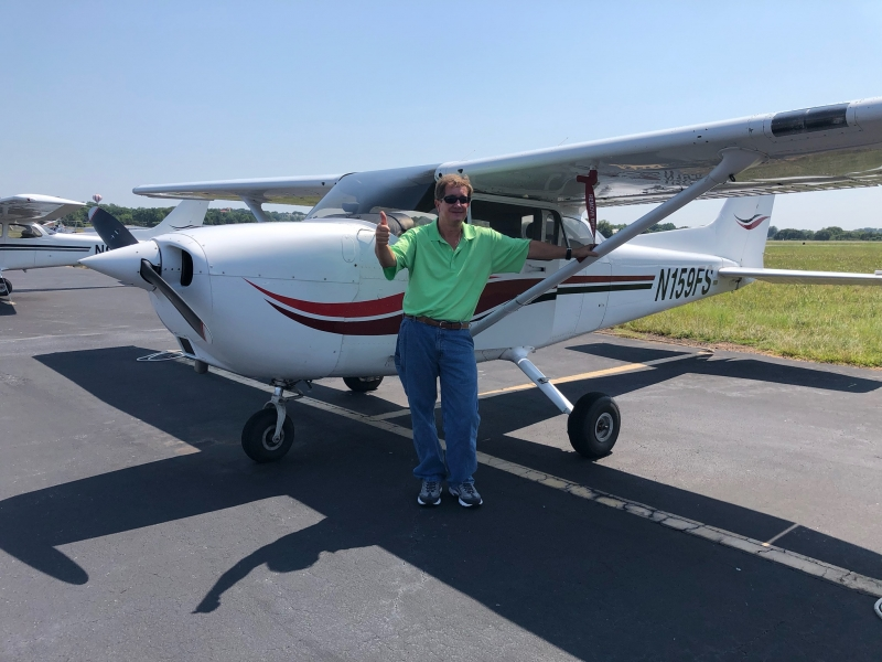 Congratulations to Rick Williford on his first solo flight in nine years! 7/27/2019
