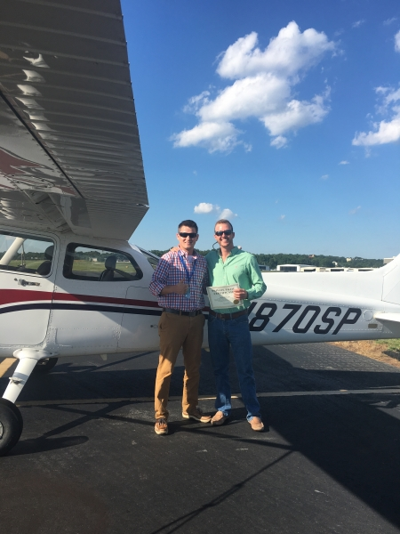 Congratulations to Martin Varn on obtaining his Private Pilot Certificate in two weeks! 7/9/2018