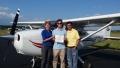 Mitch and Cyndy congratulate Matt on his first Solo flight!