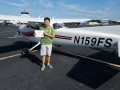 Jerry Ng took his first solo flight! 9/26/2017