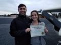 Michael Curry congratulates Maggie on her achievement