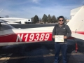 Easab Saeed flew his first Solo flight in his C150! 12/29/2018
