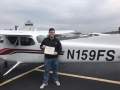Congratulations to Zachary Lake on his first Solo Flight! 3/8/2019