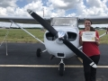 Congratulations to our newest Private Pilot, Monica Colwell! 5/8/2019