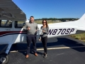 Sam congratulates Alice on earning her Private Pilot Certificate!